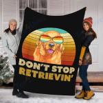 Golden Retriever Dog Custom Blanket Don't Stop Retrieving Blanket - Fleece Blanket