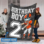 Custom Blankets Football Personalized Blanket - Perfect Gift For Birthday - Fleece Blanket