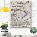 To My Daughter Elephant Canvas Prints Wall Art - Perfect Gift For Daughter - Matte Canvas