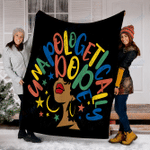 Customs Blanket Unapologetically Dope Afro African American Blanket - Fleece Blanket