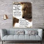 To My Daughter Lion Canvas Print Wall Art - Gift For Daughter - Matte Canvas #35888