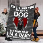 Customs Blanket Schipperke Dog Blanket - Fleece Blanket