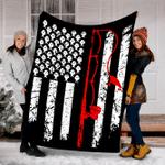 Customs Blanket Fishing Blanket American Flag Bass Fishing Blanket - Fleece Blanket