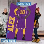 Custom Blankets Basketball Personalized Blanket 3 - Fleece Blanket