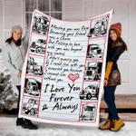 Customs Blanket Trucker Blanket I Love You Forever - Fleece Blanket