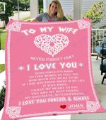 Custom Blankets To My Wife Personalized Blanket - Perfect Gift For Wife 3 - Fleece Blanket #19617