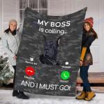 Customs Blanket Great Dane Dog Blanket - Fleece Blanket