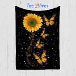 Custom Quilt Blanket Butterfly You Are My SunShine Blanket - Quilt Blanket