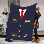 Customs Blanket Train Conductor Costume Blanket - Fleece Blanket