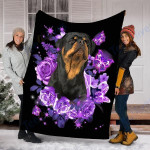 Customs Blanket  Rottweiler Dog Blanket - Valentines Day Gifts - Fleece Blanket
