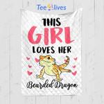 Custom Quilt Blanket This Girl Loves Her Bearded Dragon Blanket - Quilt Blanket