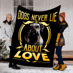 Customs Blanket Cesky Terrier Never Lie Dog Blanket - Fleece Blanket
