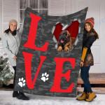 Customs Blanket Leonberger Dog Blanket - Valentines Day Gifts - Fleece Blanket