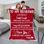 Custom Blankets To My Husband Personalized Blanket - Valentines Day Gifts For Him 2 - Fleece Blanket