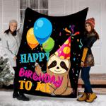Customs Blanket Birthday Cute Sloth Blanket - Perfect Gift For Boys Girls Kids - Fleece Blanket