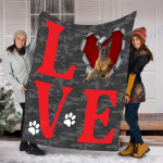 Customs Blanket Malinois Dog Blanket - Valentines Day Gifts - Fleece Blanket
