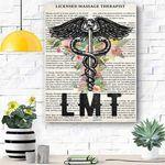 Licensed Massage Therapist Canvas Prints Wall Art - Matte Canvas
