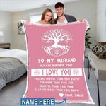 Custom Blankets To My Husband Personalized Blanket - Perfect Gift For Husband 3 - Fleece Blanket