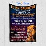 Custom Quilt Blanket Lion To My Daughter Blanket - Gift For Daughter - Quilt Blanket