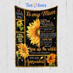 Custom Quilt Blanket Sunflower To My Mom Blanket - Gift For Mom