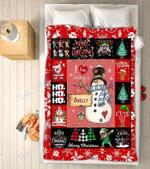 Custom Blankets - Shelly Snowman Christmas Blanket - Fleece Blankets