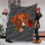 Customs Blanket Azawakh Rose Zipper Dog Pocket Blanket - Fleece Blanket
