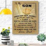 To My Son Baseball Canvas Print Wall Art - Gift For Son - Matte Canvas