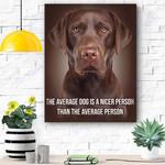Chocolate Labrador Dog Canvas Prints Wall Art - Matte Canvas #36179