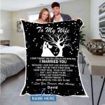 Custom Blankets Personalized Blanket - Perfect gift for Wife - Sherpa Blanket