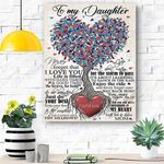 To My Daughter Canvas Print Wall Art - Gift For Daughter - Matte Canvas #82752