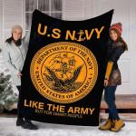 Customs Blanket Navy United States Blanket - Fleece Blanket