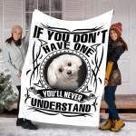Customs Blanket Maltese Dog Blanket - Fleece Blanket #47271