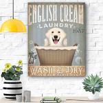 English Cream Dog Canvas Prints Wall Art - Matte Canvas
