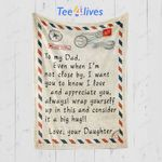 Custom Blankets Personalized Name Gifts Letter To My Dad Blanket - Gift for Dad #75169