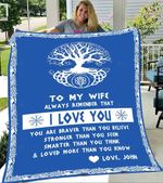 Custom Blankets To My Wife Personalized Blanket - Perfect Gift For Wife 5 - Fleece Blanket
