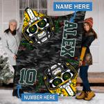 Custom Blankets Green Bay Football Personalized Blanket - Sherpa Blanket