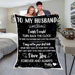 Custom Blankets To My Husband Personalized Blanket - Valentines Day Gifts For Him 4 - Fleece Blanket