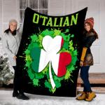 Customs Blanket O'talian Italian Irish - Saint Patrick's Day Blanket - Fleece Blanket