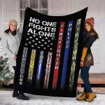 Customs Blanket No One Fights Alone Proud Job Blanket - Fleece Blanket