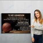 To My Grand Son-grandma - Matte Canvas