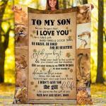 Lion Custom Blankets - Perfect Gift For Son - Fleece Blanket
