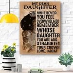 My Dear Daughter Canvas Print Wall Art - Matte Canvas