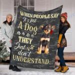 Customs Blanket Russkiy Toy Dog Blanket - Valentines Day Gifts - Fleece Blanket