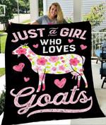 Custom Blanket Just A Girl Who Loves Goats Blanket - Quilt Blanket