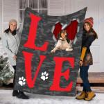 Customs Blanket Treeing Walker Coonhound Dog Blanket - Valentines Day Gifts - Fleece Blanket
