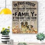 Aussie Dog Canvas Prints Wall Art - Matte Canvas