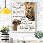 Lion To My Daughter Canvas Print Wall Art - Matte Canvas