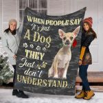 Customs Blanket Chihuahua Dog Blanket - Valentines Day Gifts - Fleece Blanket