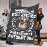 Customs Blanket Schnauzer Dog Blanket - Fleece Blanket #18340