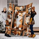 Customs Corgi Picture Dog Blanket - Fleece Blanket